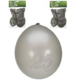 jubileum ballon 25 jaar zilver