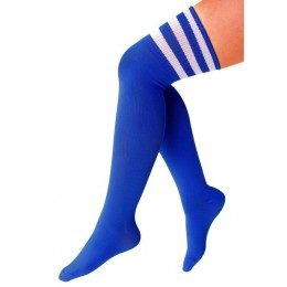 Cheerleader kousen blauw