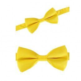 Luxe strik geel