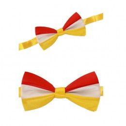 Luxe strik rood-wit-geel