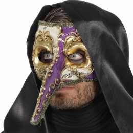 Masker met lange neus paars