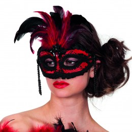 Masker burleque (bril) met kant