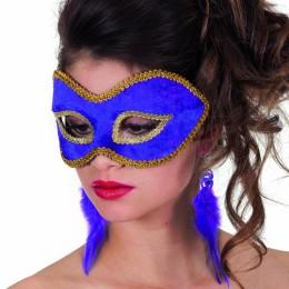 Masker (bril) fluweel uni paars