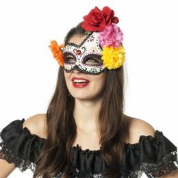 Masker Day of the death met bloemen