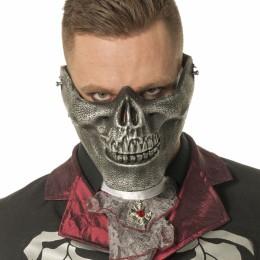 Masker doodskop onderkaak zilver