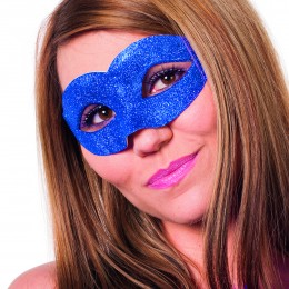 Masker ogen luxe glitter blauw