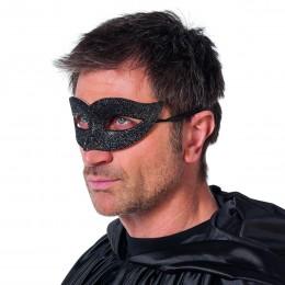Masker ogen luxe glitter zwart