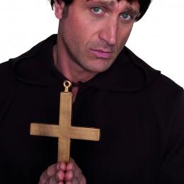 Monnik/pater ketting met kruis