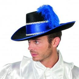 Musketier met veer blauw