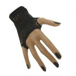 nethandschoenen kort vingerloos zwart