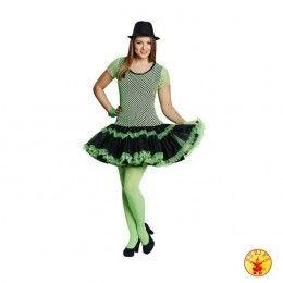 Netshirt jurkje neon groen