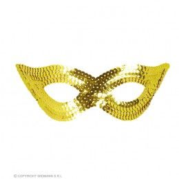 oogmasker pailletten, goud