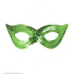 oogmasker pailletten, groen