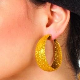 Oorbellen glitter goud