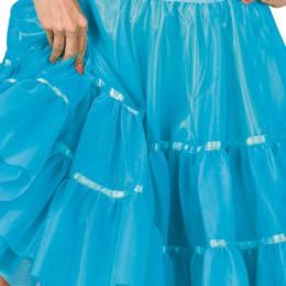 Petticoat aqua blauw kort