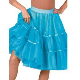 Petticoat aqua blauw lang