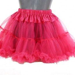Petticoat kort donker roze
