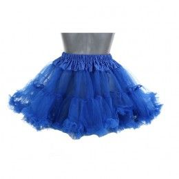 Petticoat kort kobalt blauw