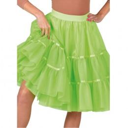 Petticoat lime groen lang