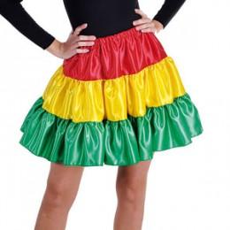 Petticoat stof carnaval rood geel groen