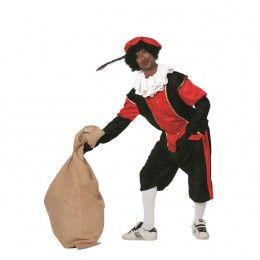 Piet kostuum budget dames zwart rood
