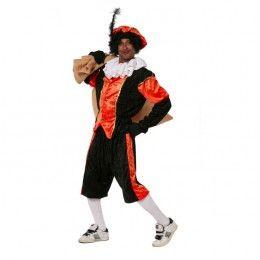 Piet kostuum budget dames zwart/oranje