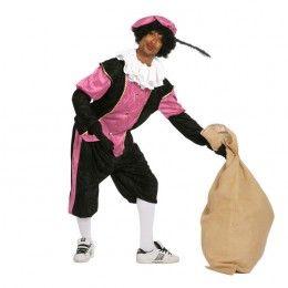 Piet kostuum budget dames zwart/rose