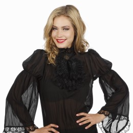 Steampunk blouse zwart