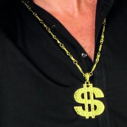 Ketting dollar teken goud