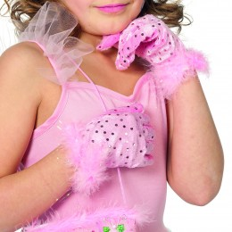 handschoenen prinses kind rose