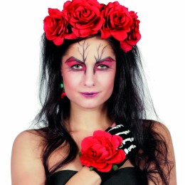 Set Day of the dead, diadeem oorbellen handschoenen