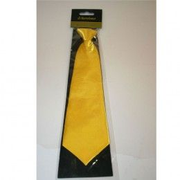 Stropdas satijn geel