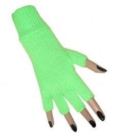 Vingerloze handschoenen neongroen