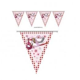 vlaggenlijn geboorte meisje