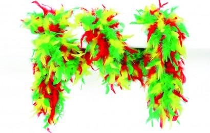 boa gemeleerd 65 gram 180cm lang rood/geel/groen