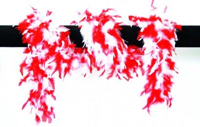 boa gemeleerd 65 gram 180cm lang rood/wit