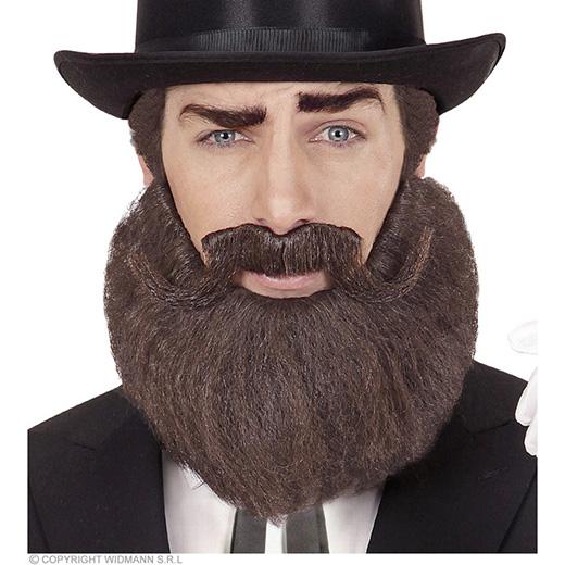 baard en snor bruin