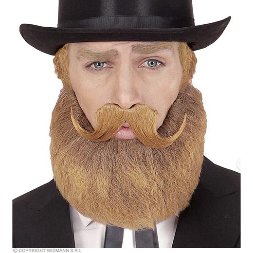 baard en snor blond