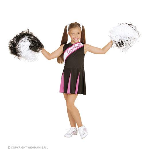 cheerleader zwart/rose meisje