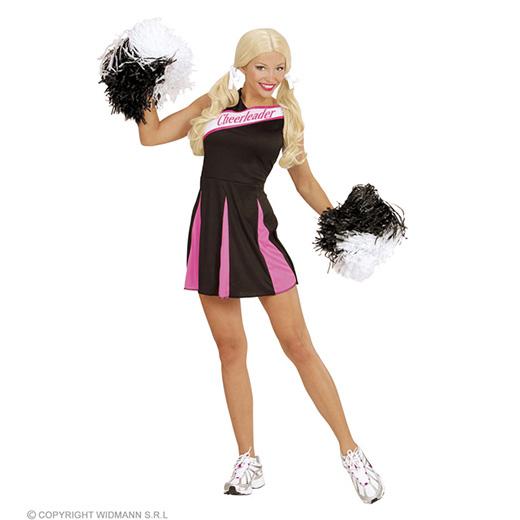 cheerleader zwart/rose l
