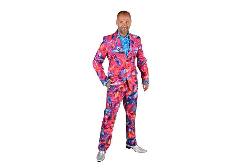 Foute disco kostuum Funky pink