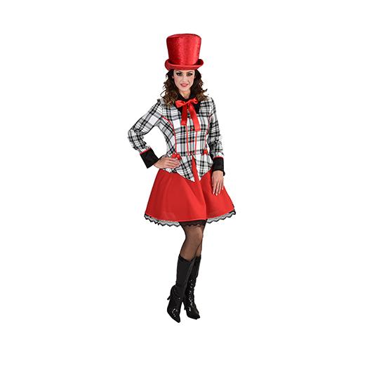 Dickens jurkje / Clownsjurk geruit 220185