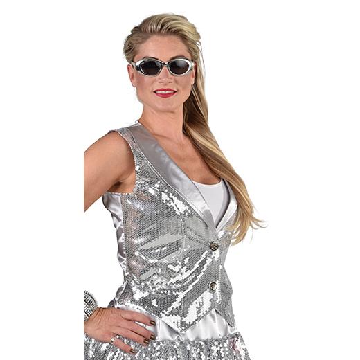 Gilet paillet zilver