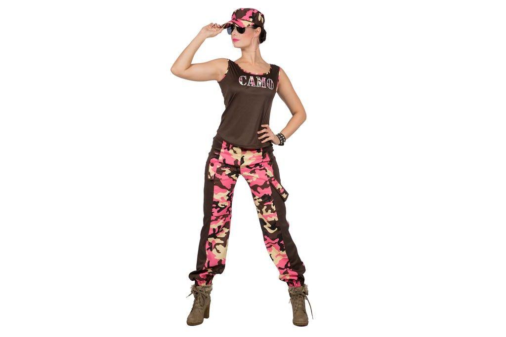 Camo girl camouflageprint roze 4469-B