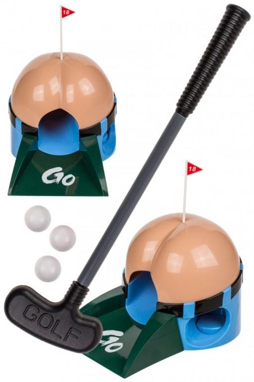 Golf spel kont met scheetgeluiden