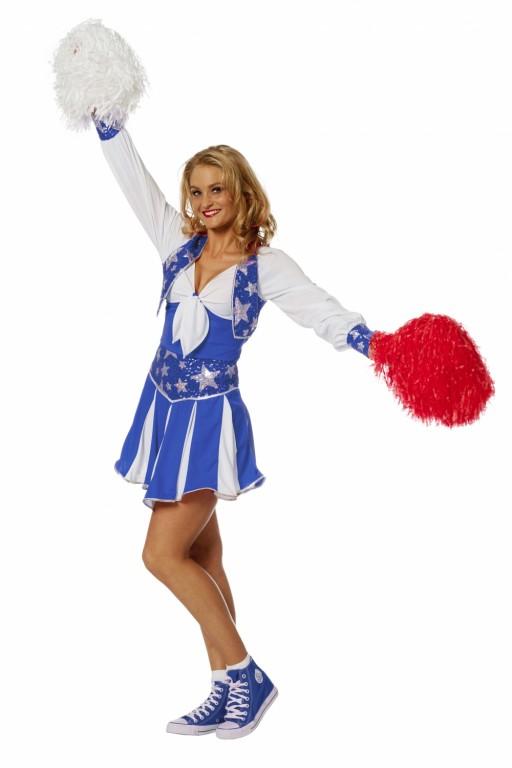 Cheerleader luxe blauw 4182-B