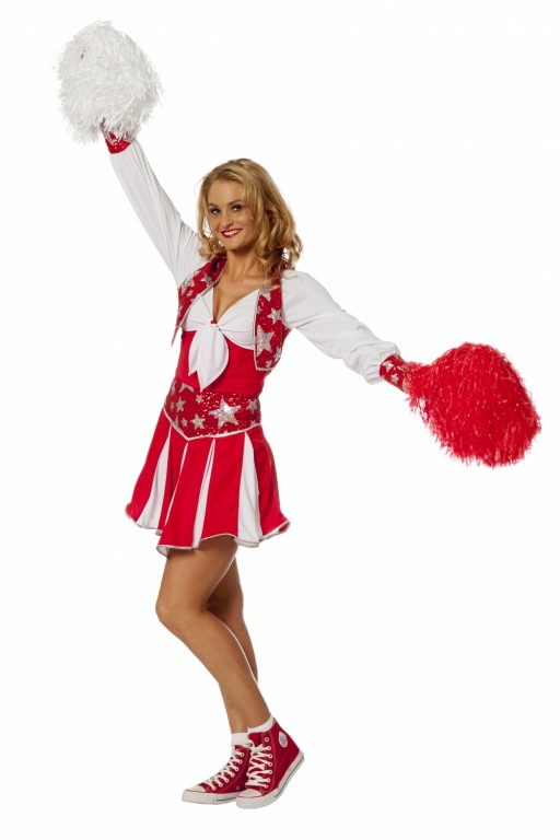 Cheerleader luxe rood