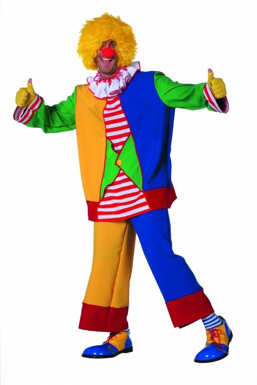 Clown geel/blauw