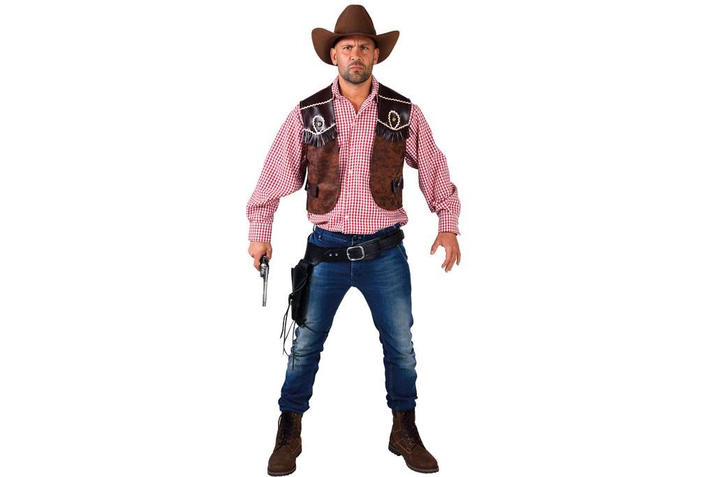 cowboy gilet bruin