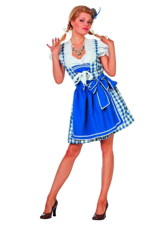 Dirndl Brigitte blauw